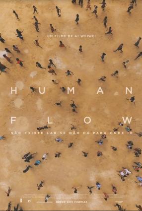 Cartaz do filme HUMAN FLOW – NÃO EXISTE LAR SE NÃO HÁ PARA ONDE IR
