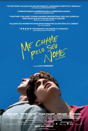 Cartaz do filme ME CHAME PELO SEU NOME – Call Me By Your Name