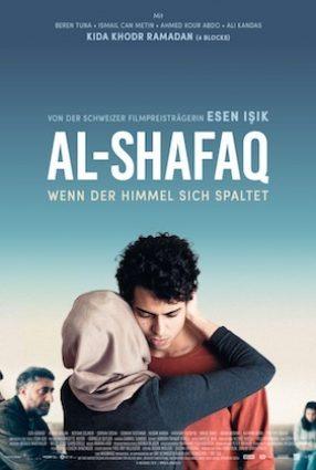 Cartaz do filme AL-SHAFAQ  – QUANDO O CÉU SE DIVIDE – WHEN HEAVEN DIVIDES
