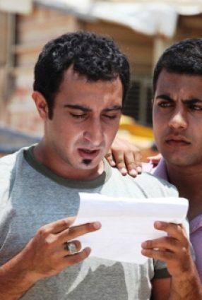 Cartaz do filme UMA GARRAFA NO MAR DE GAZA – Une Boutteille à la Mer